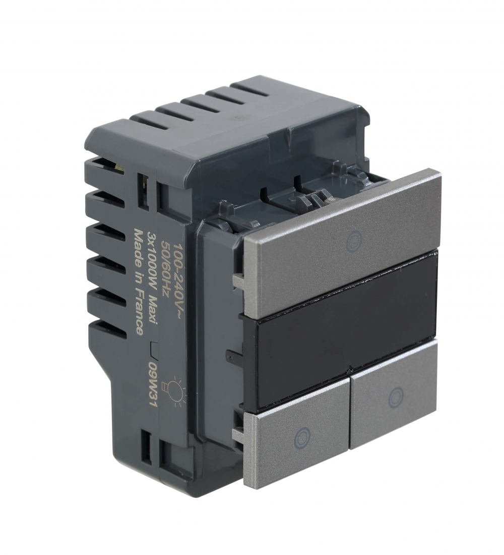 Arteor - 2-way switch 2 x 1000 W with LED locator