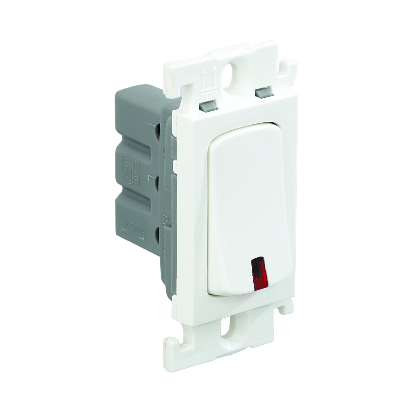 Mylinc 6 A one-way SP switch with indicator (6 A - *230 V~)