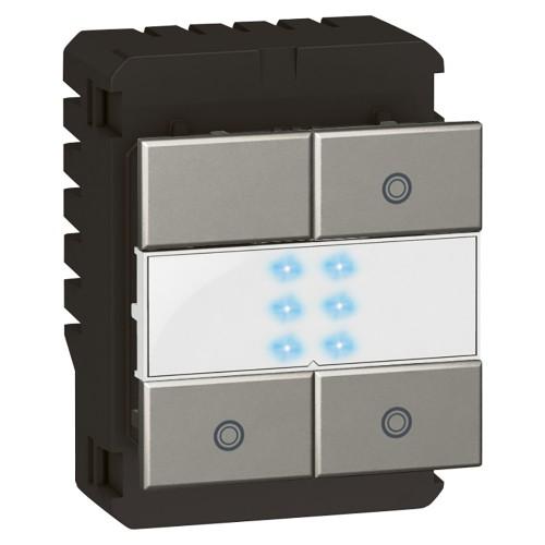 Arteor - 2-way switch 3 x 1000 W with LED locator