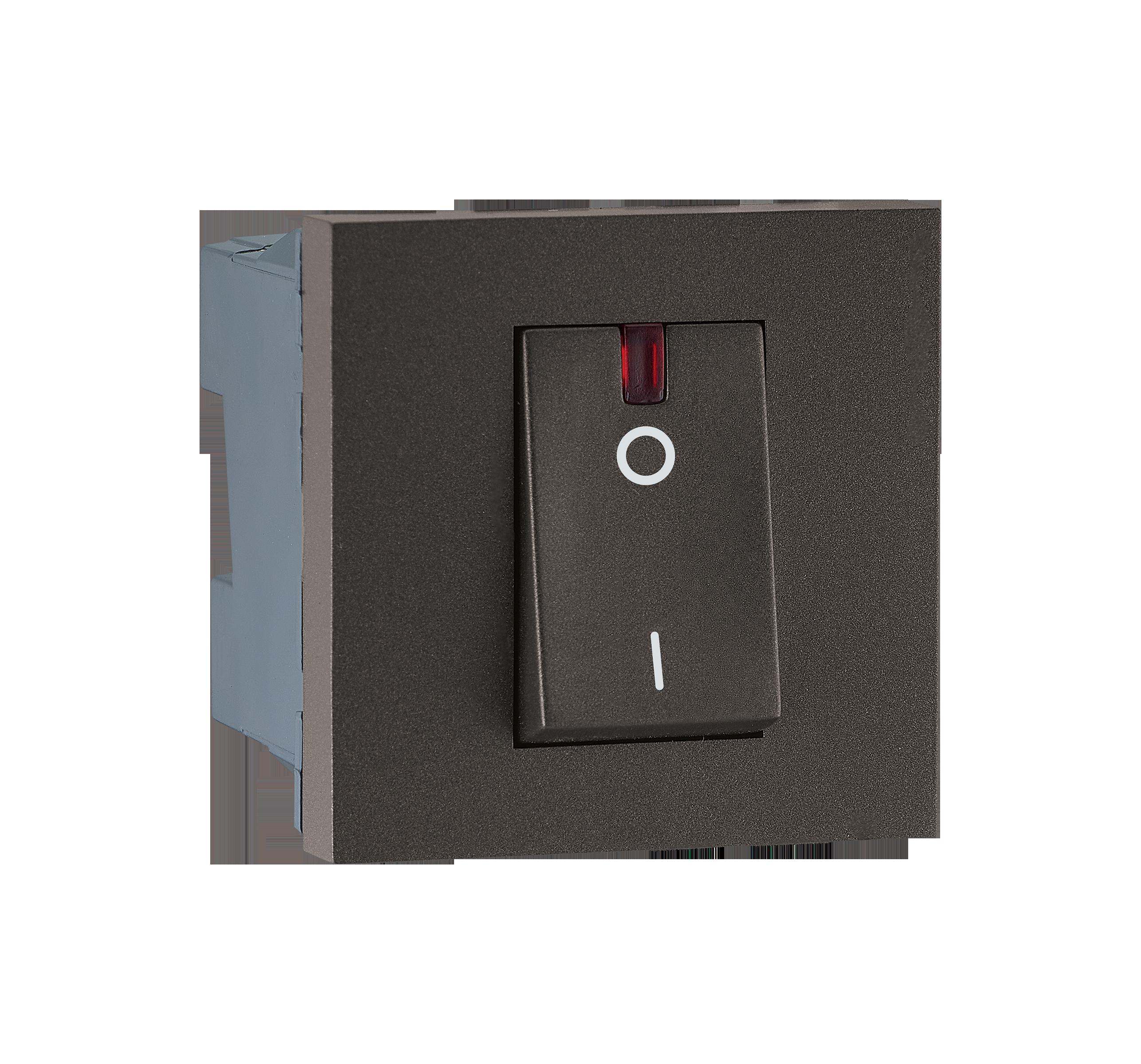 Myrius Nextgen 32A Dp Switch 2M With Indicator Charcoal Grey