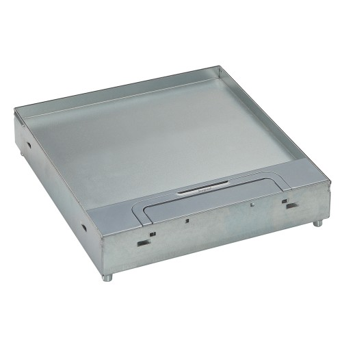 Floor boxes for tile / marble - Lid & trim for tiles / marble, Single cable outlet (powder coated head band & cable outlet)