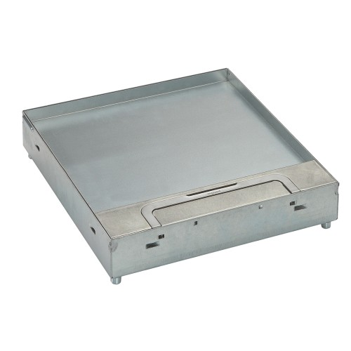 Floor boxes for tile / marble - Lid & trim for tiles / marble, Single cable outlet (stainless steel 304 head band & cable outlet)