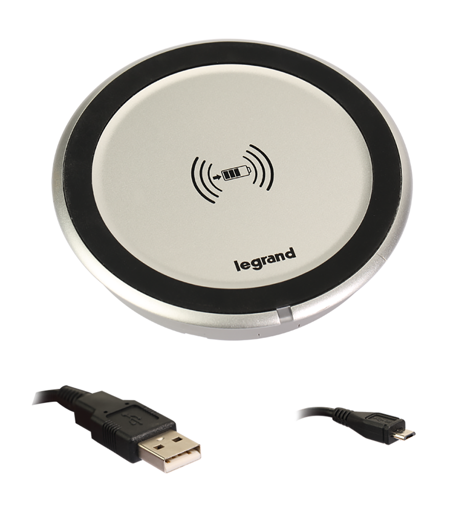 QI wireless power charger for integration into the furniture 5 W