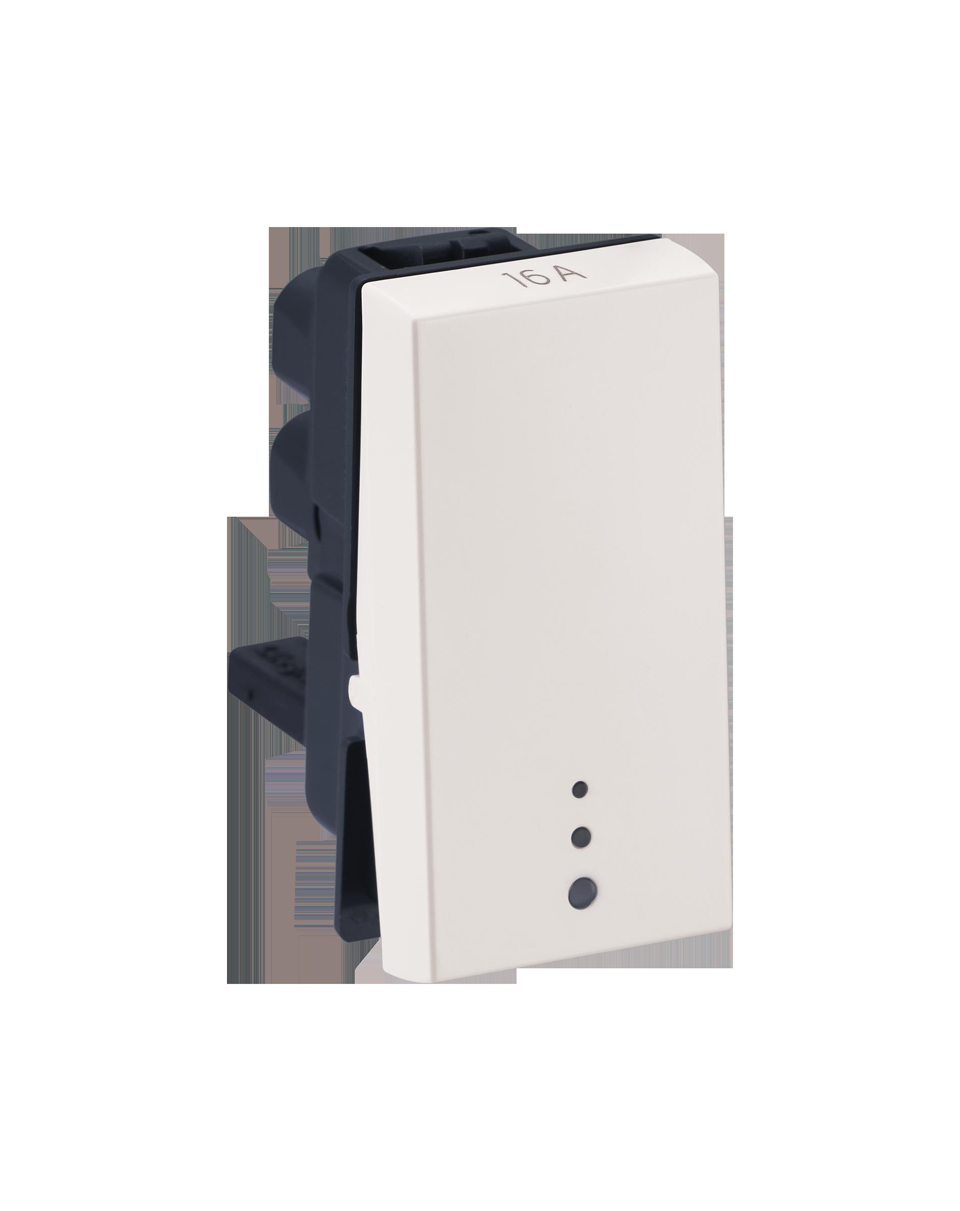 Myrius Nextgen 16A Switch 1 Way 1M With Indicator White