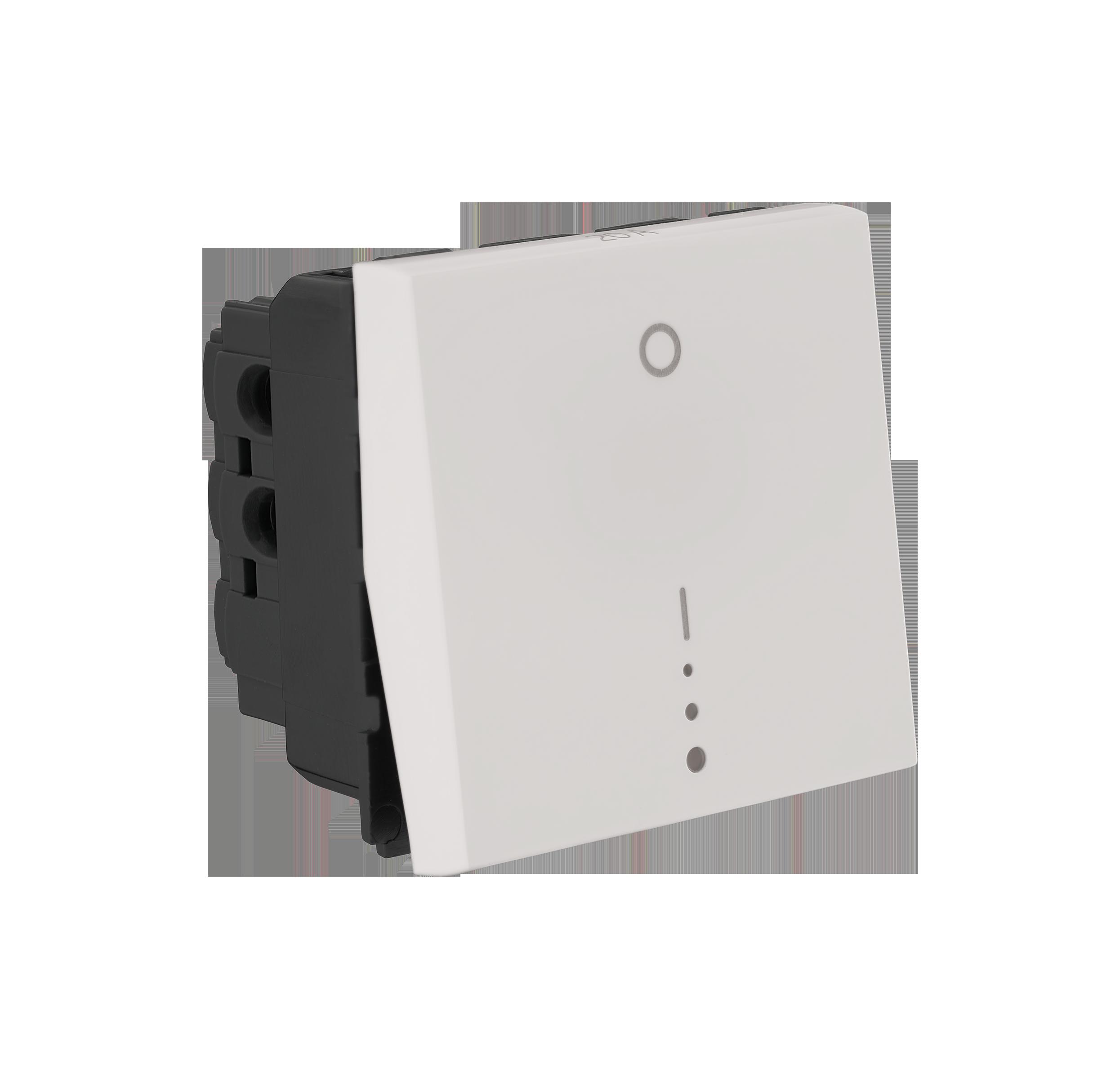 Myrius Nextgen 20A Dp Switch 1 Way 2M With Indicator White