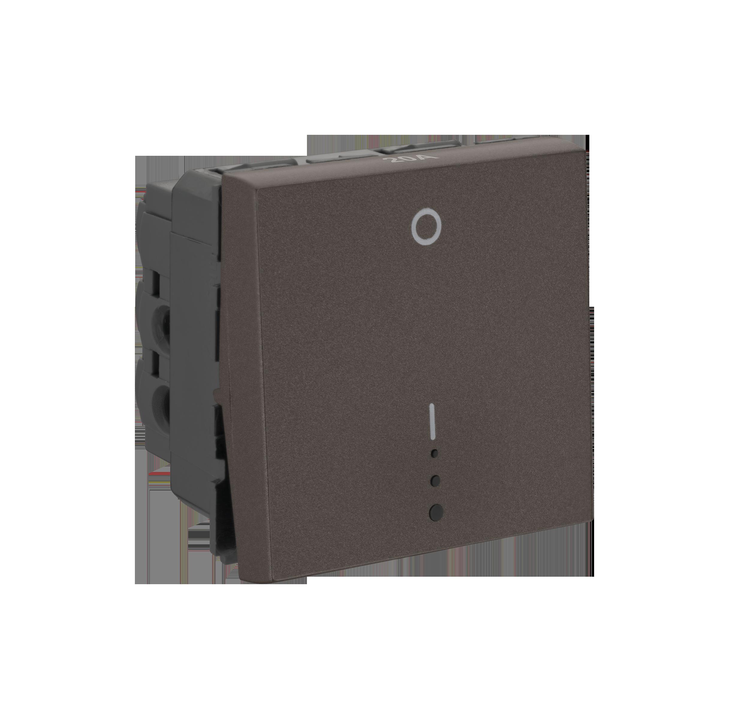 Myrius Nextgen 20A Dp Switch1 Way 2M With Indicator Charcoal Grey