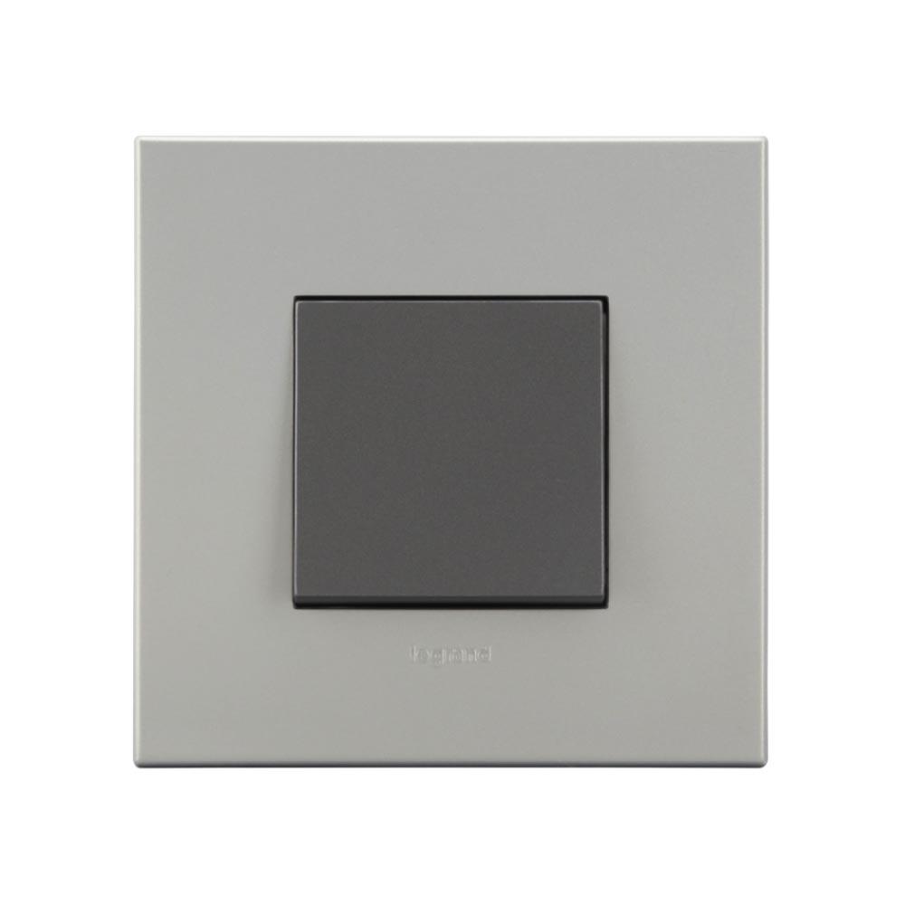 Arteor - 1-way switch 10 AX - 230 V~ 2 module(Magnesium)
